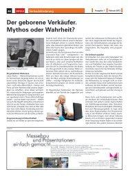 Der geborene Verkäufer. Mythos oder Wahrheit?