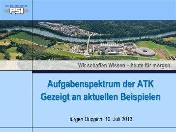 Gantry 3 - Abteilung Technik / Koordination /Betrieb (ATK)