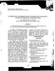 ETHNOBOTANY OF TRIBES IRULAR, KURUMBAN AND PANIYAN ...
