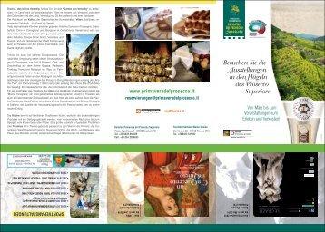Besuchen Sie die Ausstellungen in den Hügeln des Prosecco ...