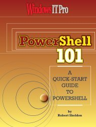 A QUICK-START GUIDE TO POWERSHELL - Windows IT Pro