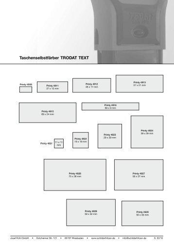 Preisliste als pdf downloaden - Stempel - Schilder -  Kühl GmbH
