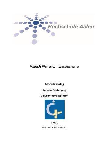 Modulkatalog SPO 31 - Hochschule Aalen