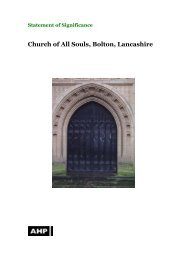 All Souls Bolton Conservation Statement - The Churches ...