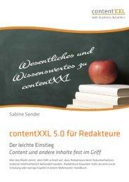 Handbuch für Redakteure - contentXXL Logo