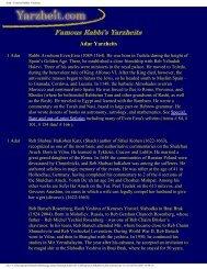 Adar - Famous Rabbis Yarzheits - Antiquejewishbooks.net