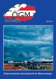 Österreichische Gesellschaft für Meteorologie 2012/1