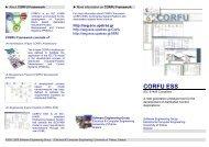 CORFU ESS Brochure - Software Engineering Group