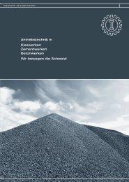 Antriebstechnik in Kieswerken Zementwerken ... - Alfred Imhof AG