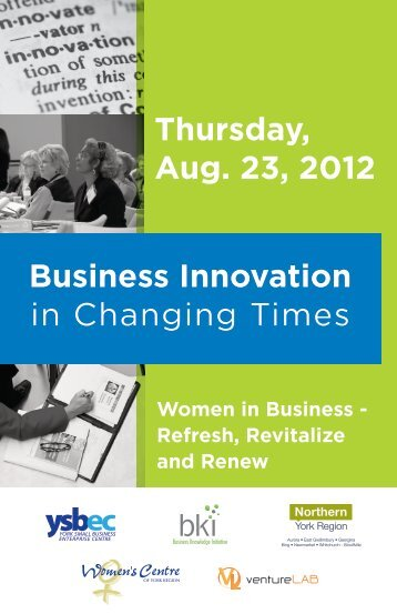 Program Guide - Newmarket Chamber of Commerce