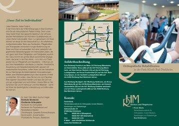 Orthopädische Rehabilitation in der Park-Klinik Bad Dürkheim ...