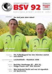 Ausgabe 3/08 - Berliner Sport-Verein 1892 eV: Startseite
