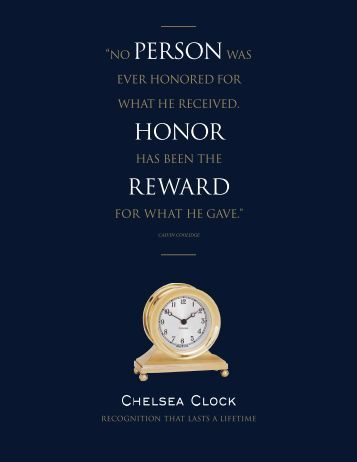 Download Corporate Gift Brochure - Chelsea Clock