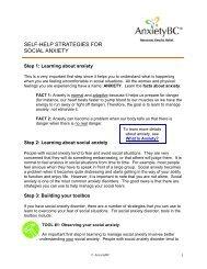 Self-Help Strategies for Social Anxiety - AnxietyBC
