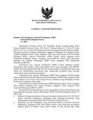 Kab. Berau - Badan Pemeriksa Keuangan