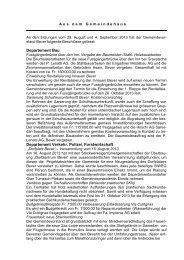 Bericht vom 28. August und 4. September 2013 - Bever