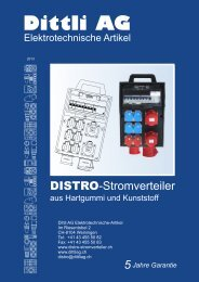 DISTRO-Stromverteiler - Dittli AG