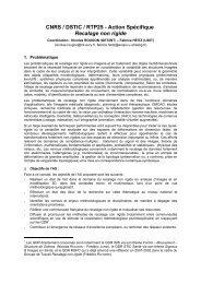 CNRS / DSTIC / RTP25 - Action Spécifique Recalage non rigide