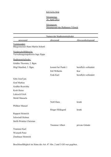 Protokoll zur Sitzung des Stadtrats vom 16.04.2013 - bei der Stadt ...