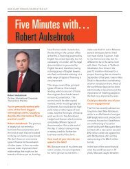 Five Minutes with… - Akin Gump Strauss Hauer & Feld LLP