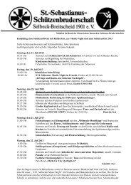 Einladung zum Schützenbiwak und Schützenfest 1999