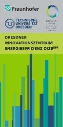 Publikation Dresdner Innovationszentrum Energieeffizienz DIZE EFF