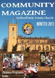 Our Winter 2013 Parish Newsletter - Holy Trinity Church, Rothwell