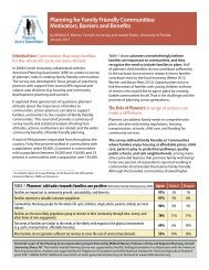 Planning for Family Friendly Communities: Motivators, Barriers and ...
