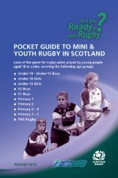 Pocket guide to mini and youth Rugby in Scotland. - Stirling County ...