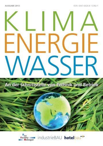 Sonderheft Klima Energie Wasser als PDF - Der Facility Manager
