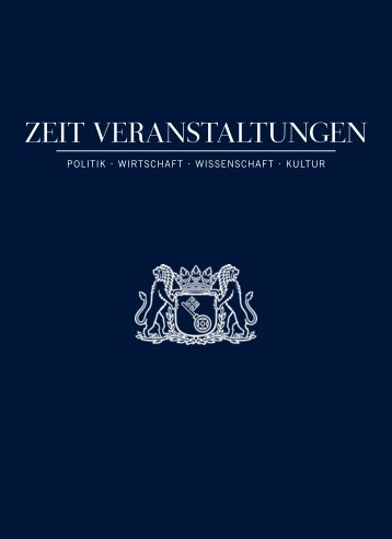 ZEIT VEransTalTungEn - DIE ZEIT Verlagsgruppe