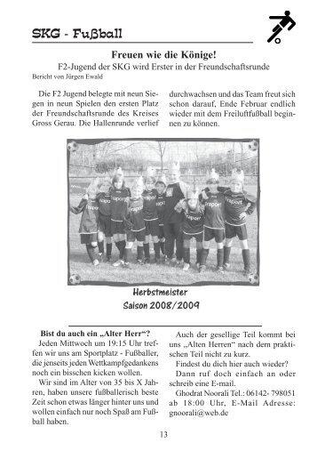 Ausgabe 1/2009 - SKG Bauschheim - Jugendfußball