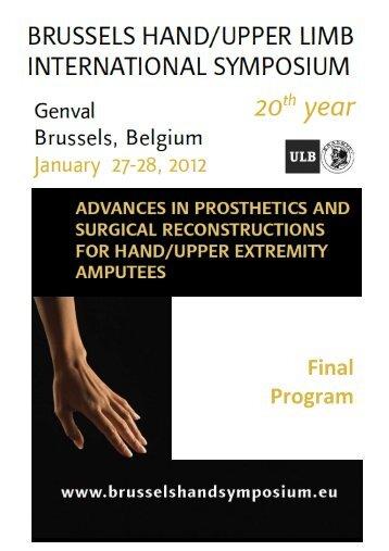 Final Program - 22nd Brussels Hand/Upper Limb International ...