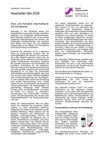 Naturheilkundliche Herz-Kreislauftherapie - Steierl-Pharma GmbH