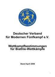 Wettkampfbestimmungen - Deutscher Verband für Modernen ...