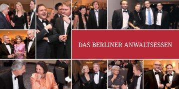 DAS BERLINER ANWALTSESSEN - Berliner Anwaltsverein eV