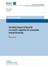 The likely impact of Basel III on a bank's appetite for ... - NHH