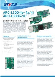 Areca ARC-1300 Datasheet (PDF) - starline Computer GmbH