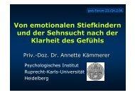 Emotionale Stiefkinder, gws-Forum - GWS Netzwerk