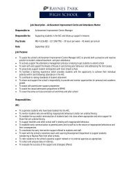Job Description and Person Specification - Eteach
