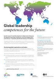 Global leadership competences for the future