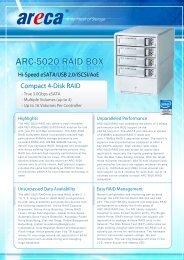 Areca ARC-5020 Datasheet (PDF) - starline Computer GmbH