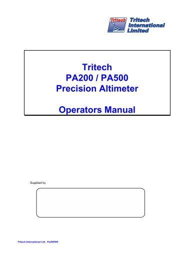 Precision Altimeter Operator Manual - uri=web.duke