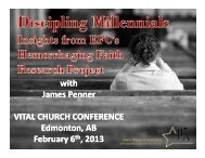 keynote address - The Anglican Diocese of Edmonton
