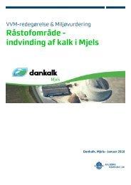 Råstofområde - indvinding af kalk i Mjels - Aalborg Kommune