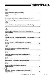 Einbauanleitung: Elektroanlage für Anhängevorrichtung ... - MVG