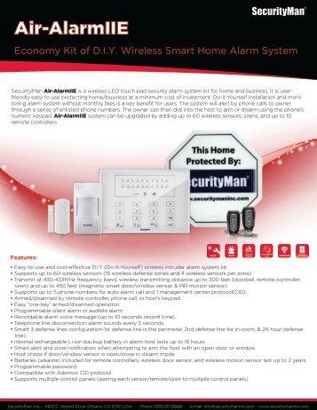 Air-AlarmIIE - SecurityMan Inc