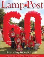 Fall 2013 - The Lamplighter School