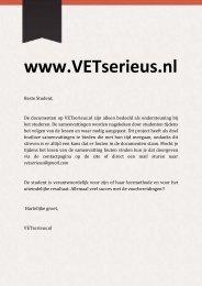 Blok 5 Externe Beinvloeding Celfunctie - VETserieus.nl