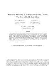 Empirical Modeling of Endogenous Quality Choice - The University ...